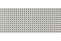 Opoczno Black&White Pattern D dekorcsempe 20x50 cm