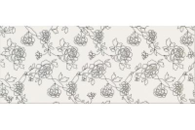 Opoczno Black&White Pattern C dekorcsempe 20x50 cm
