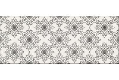 Opoczno Black&White Pattern E dekorcsempe 20x50 cm