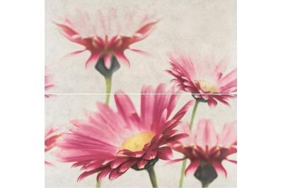 Opoczno Creamy Touch Composition Flower rektifikált dekorcsempe 2 részes 58,3 x 59,3 cm