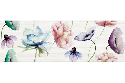 Opoczno Elegant Stripes Inserto Flower dekorcsempe 25x75 cm