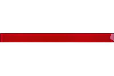 Opoczno Basic Palette Glass Red Border üveg dekorcsík 4,8 x 60 cm