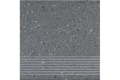 Opoczno Hyperion H10 Graphite Steptread lépcsőlap 29,7 x 29,7 cm