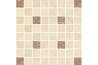 Opoczno Light Marble Beige Mosaic Square mozaik 29 x 29 cm