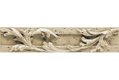 Opoczno Salonika Cream Border Classic rektifikált dekorcsík 6,1 x 29 cm