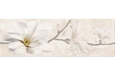 Opoczno Stone Flowers Inserto Beige dekorcsempe 25x75 cm