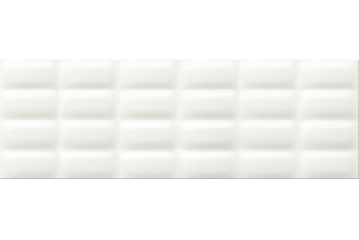 Opoczno Vivid Colours White Glossy Pillow falicsempe 25x75 cm