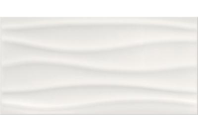 Opoczno Basic Palette White Glossy Wave dekorcsempe 29,7 x 60 cm