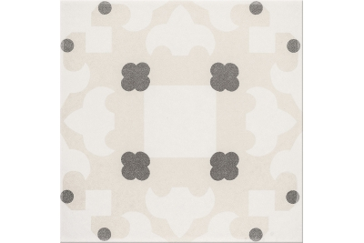 Opoczno Basic Palette White Pattern C padlódekor 29,7 x 29,7 cm