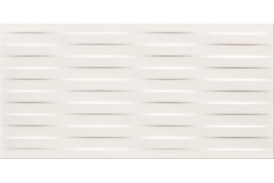 Opoczno Basic Palette White Satin Braid dekorcsempe 29,7 x 60 cm